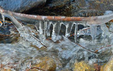 Icicles and stream 6