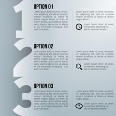1-2-3 option infographics-paper progress template