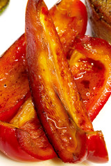 Roasted sweet pepper, seasoning for meat dishes.