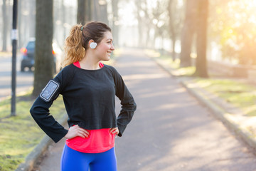 Young Sporty Woman Portrait at Park