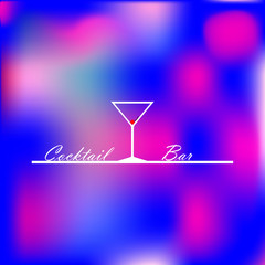 Design illustration with the image of a glass for a cocktail bar