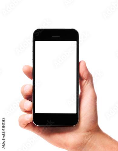modern smartphone in hand - 78307383