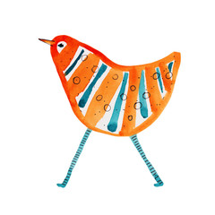 Bird striped. Vector