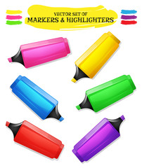 Highlighters And Felt Tip Pen Set