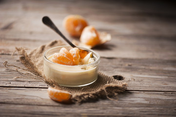 Orange tangerine mousse