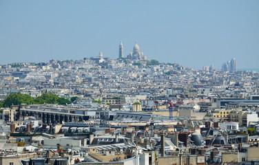 Bird's-eye view of Montmartre in Paris