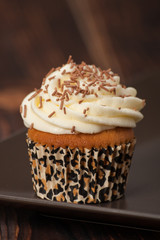 Cupcake With Cream And Sprinkles