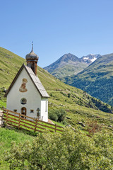 Small church in Otztal, Tyrol, Austria