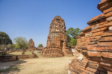 Ancient ruins of Wat Phra Sri Sanphet ayutthaya thailand