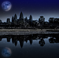 Angkor wat night, Siem reap, Cambodia,