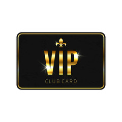 VIP card template, isolated on white background