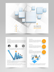 Business flyer, banner or template design with infographics.
