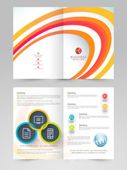 Creative brochure, template or flyer design for business.