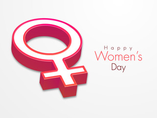 3D female symbol for International Women's Day celebration.