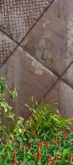 raw steel exterior facade