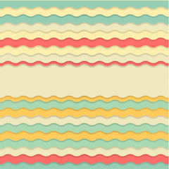 Retro colorful wavy background. 03