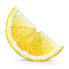 Lemon fruit. Slice isolated on white
