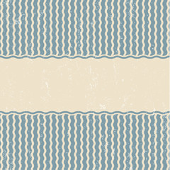 Retro blue wavy background 04