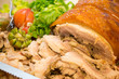 Italian porchetta, salad and fruit - 78310112