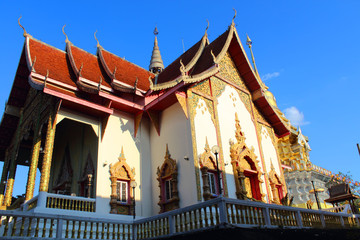 Beautiful temple and building at Chiangmai Thailand.