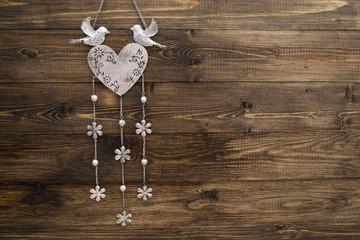 decoration on wood texture