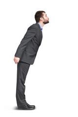 man in grey suit want to kiss