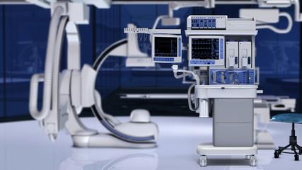Anästhesie-Arbeitsplatz im OP
