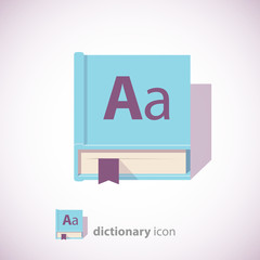 blue dictionary book icon