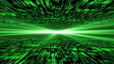 Fototapety matrix 3d - flying through energized cyberspace, light on the ho