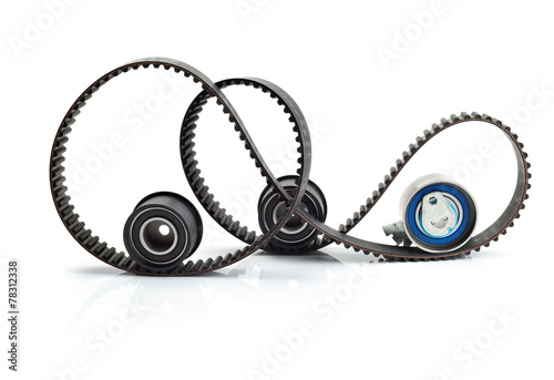 Timing belt, two rollers and the tension mechanism - 78312338