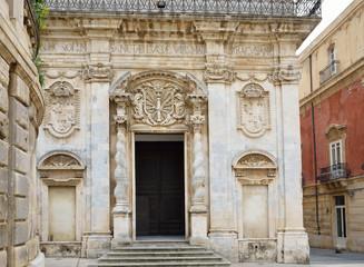 Baroque edifice in the ancient Syracuse