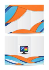 Tri-fold brochure/flyer design .Vector illustration eps10