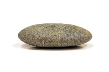 One round stone on a white background
