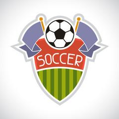 Sports illustration soccer football badge.