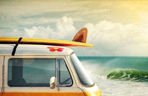 Leinwandbild Motiv Surfing Way of Life