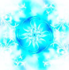 Decorative fractal wallpaper - intricate patterns of blue light