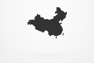 China Country Vector Map