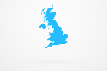 England Country Vector Map