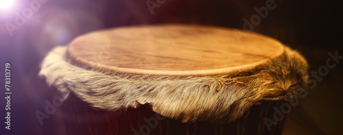 Original african djembe drum with leather lamina with beautiful