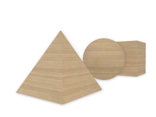 wooden geometric shape