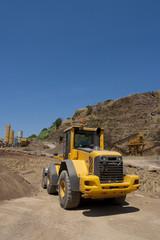 bulldozer in action