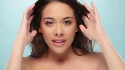 beauty woman face skin care