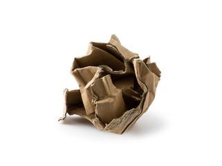 Crushed cardboard box