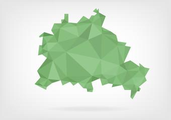 Low Poly map of german region Berlin