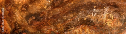 Foto op Aluminium Australië Felsmalerei am Ayers Rock, Australien