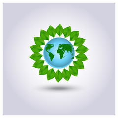 Ecology icon green planet