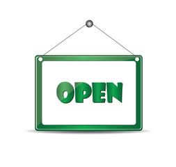 Open signboard