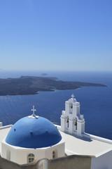 Church view in Santorini Island
