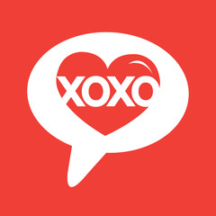 Heart Love Xoxo , Valentines day illustrations and typography el