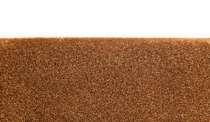 Brown sugar with copy space